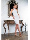 Бандажное платье с открытой спинкой и сверкающей крошкой