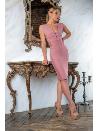 Бандажное платье с разрезами