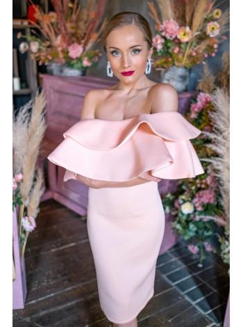Праздничное платье платье с воланом