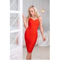 Бандажное платье классическое красное