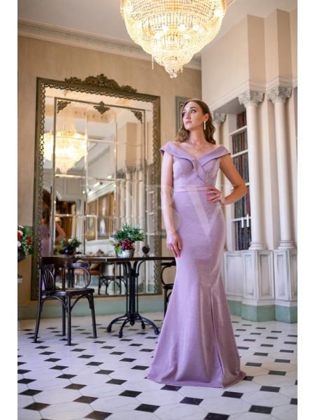 Вечернее сверкающее платье годе
