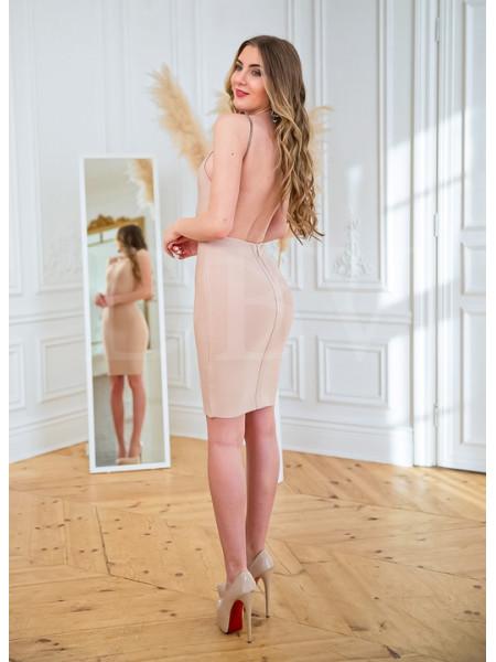 Бандажное платье с открытой спиной