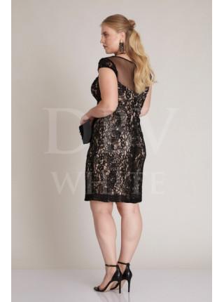 Кружевное платье Plus size