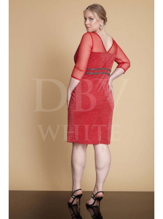 Праздничное платье Plus size с стразами