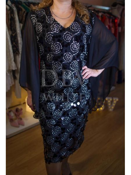 Праздничное платье Plus size с крупными пайетками