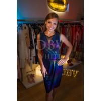 Коктейльное платье с радужным переливом
