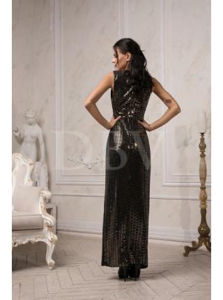 Вечернее платье с золотыми блестками